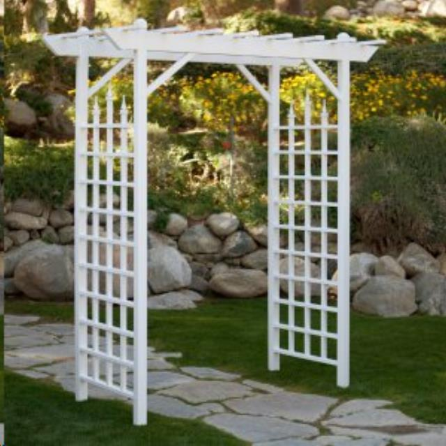Where to find Arch White Vinyl Pergola in Vancouver