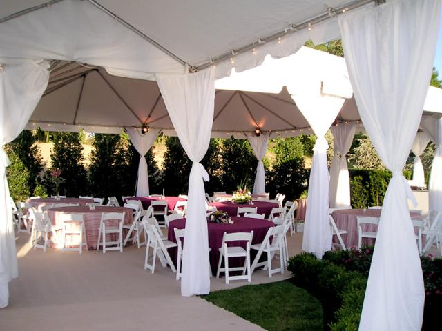 Where to find White Tent Leg Drape in Vancouver