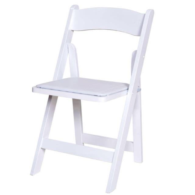 Where to find White Resin Padded Chair in Vancouver