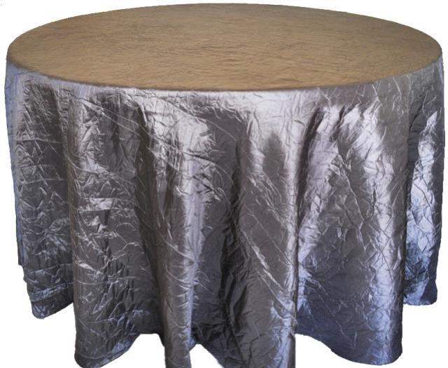silver 120 inch crushed round linen rental vancouver wa rent silver