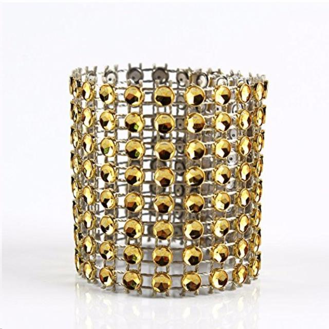 Where to find Rhinestone Napkin Ring Gold in Vancouver