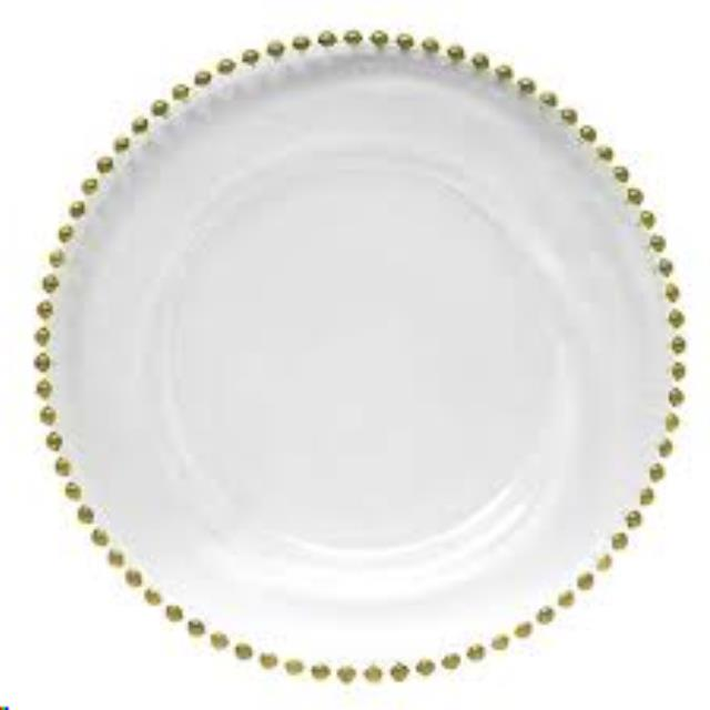 Where to find Glass Gold Beaded Charger Plate in Vancouver