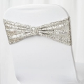 Rental store for Silver Sequin Chair Sash Spandex in Vancouver WA